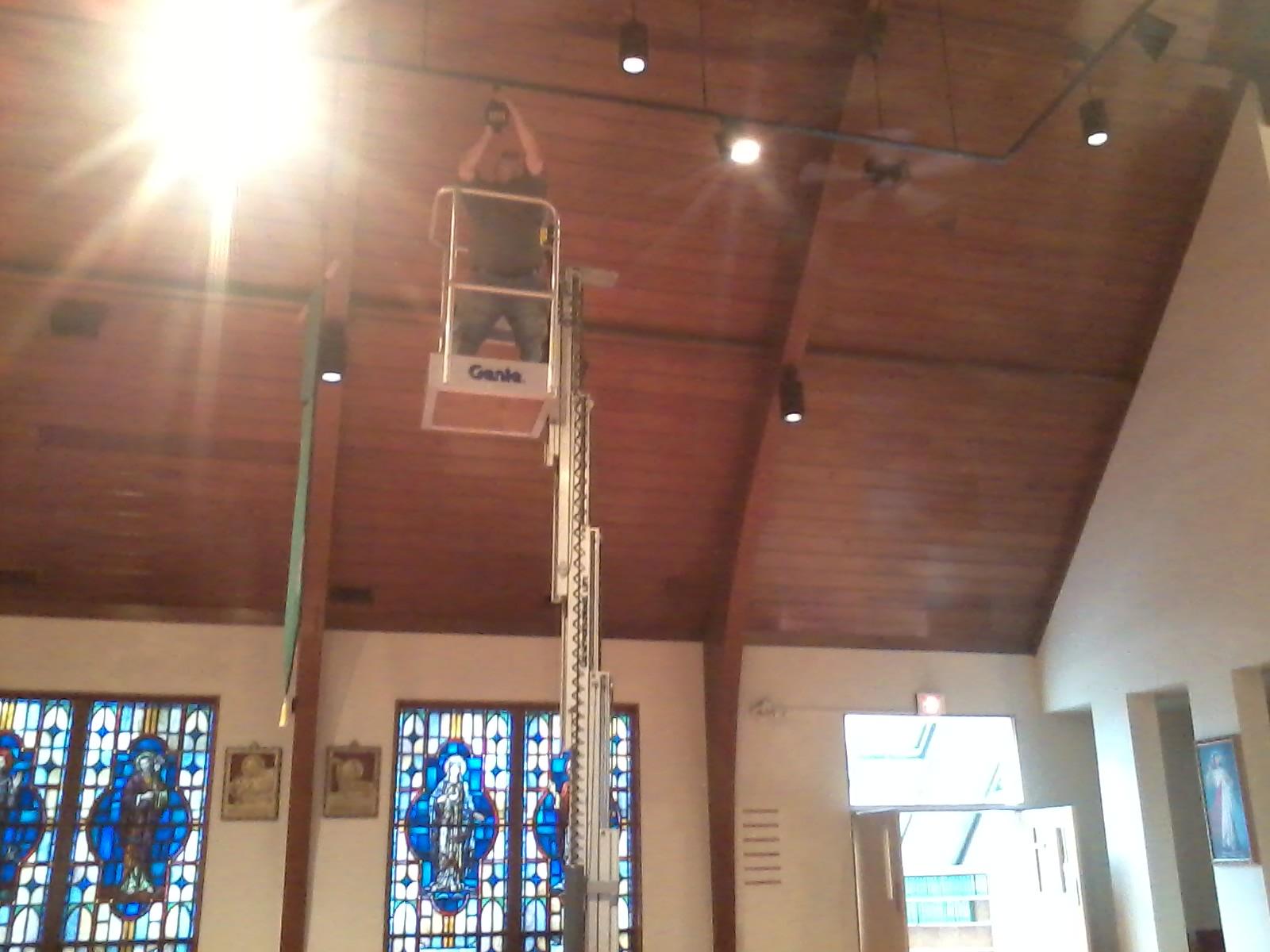 St . Anthon's Church led lights